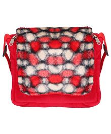 Hello Toys Plush Sling Bag Red - 8 Inches
