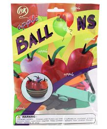 BK Balloons Apple Shaped Balloons Multicolor - 20 Pieces