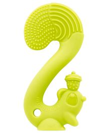Mombella Squirrel Silicone Teether - Green