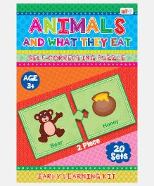 Art Factory  Animals And What They Eat Foam Puzzles - 20 Sets