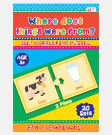 Art Factory Where Does Things Come From Foam Puzzle - 20 Sets