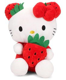Dimpy Stuff Hello Kitty Strawberry Soft Toy White And Red - Height 36 cm