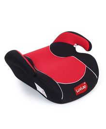 LuvLap Backless Booster Baby Car Seat Red - 18227