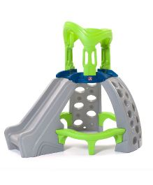 Step2 Castle Top Mountain Climber With A Slide - Green Grey