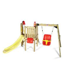 Plum Toddlers Tower Wooden Play Centre - Multi Colour