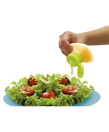 EZ Life Portable Silicon Squeeze Dispenser For Sauces Salad Dressings - Green & White