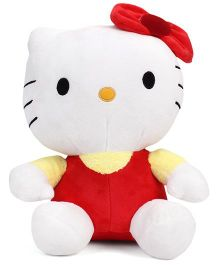 Hello Kitty Soft Toy Red White - 27 cm