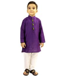 Raghav Kurta & Pyjama Set - Purple