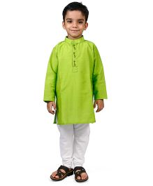 Raghav Kurta & Pyjama Set - Lime Green