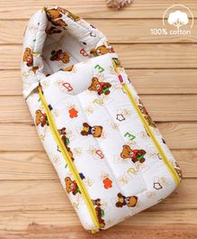 Babyhug Sleeping Bag Little Teddy - Yellow