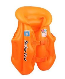 EZ Life Inflatable Body Vest Float For Swimming Medium - Orange