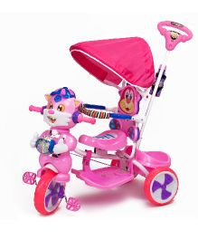 Luusa Falcon Tricycle With Sipper Bottle - Pink