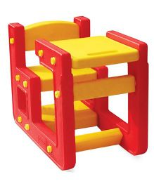 Playgro Toys Little Genius Desk And Chair Set - Red Yellow