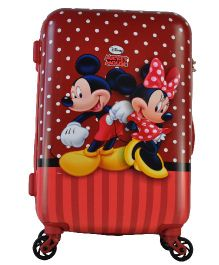 Disney Gamme Mickey Kids Luggage Trolley Bag Red - 20 Inches