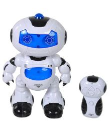 Magic Pitara Dancing Robot With Remote Control - White And Blue