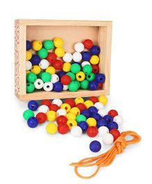 Little Genius Wooden Beads Activity Kit - 100 Beads