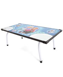 Disney Frozen Multipurpose Table With Marker - Blue & White (Print May Vary)