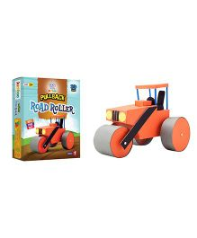 Jumboo 3D DIY Art And Craft Set Pull Back Road Roller Toy - Multi Color