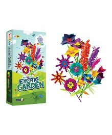 Jumboo 3D DIY Art And Craft Set Exotic Garden - Multi Color