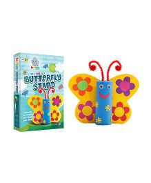 Jumboo 3D DIY Art And Craft Set Butterfly Stand - Multi Color