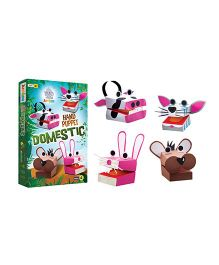 Jumboo 3D DIY Art And Craft Set Hand Puppet Domestic - Multi Color