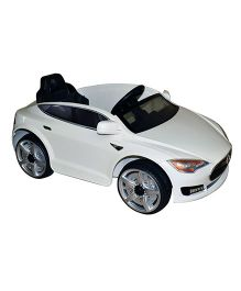 Marktech Battery Operated B Wild Tesla 115 Ride On Car White - JE115 WHT