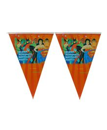 Partymanao Super Powerful Birthday Party Flag Banner - Orange
