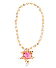 Miss Diva Traditional Star Flower Necklace - Light Pink
