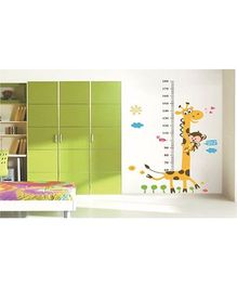 Syga Height Measurement Decals Design Wall Stickers - Multicolour