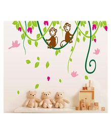 Syga Monkey Decals Design Wall Stickers - Multicolor
