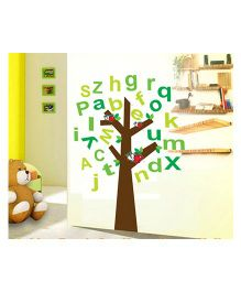 Syga Alphabet Letters Decals Design Wall Stickers - Multicolor