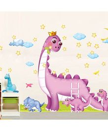 Syga Dinosaur Decals Design Wall Stickers - Multicolour