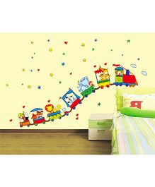Syga Circus Animals Wall Sticker - Multicolor