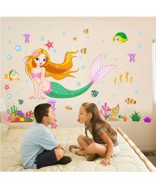 Syga Mermaid Wall Sticker - Multicolor