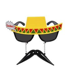 Funcart Spanish Hat With Mustache Eye Sunglasses - Yellow & Black
