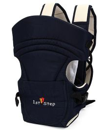 1st Step 2 Way Baby Carrier With Cross-Over Shoulder Straps And Storage Pockets - Navy Blue