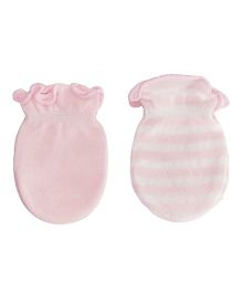 Playette Bamboo Mittens Pack Of 2 - Pink