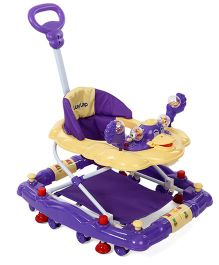 LuvLap Comfy Baby Walker Cum Rocker Purple - 18232