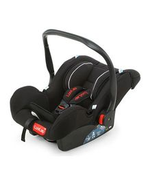 LuvLap Infant Baby Car Seat Cum Carry Cot And Rocker With Canopy Black - 18236