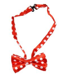 Miss Diva Superstar Polka Dot Bow - Red