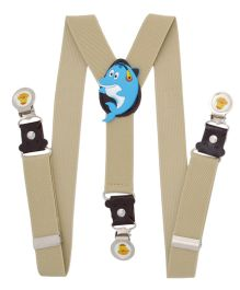 Miss Diva Cute Dolphin Patch Suspender - Light Brown