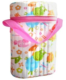 Morisons Baby Dreams Insulated Double Bottle Holder Pink - Fits 250 ml Bottles Each