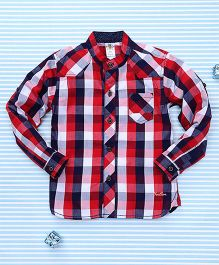 Bee Born Checkered Shirt - Red