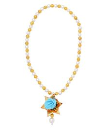 Miss Diva Traditional Star Flower Necklace - Turquoise