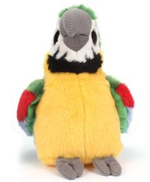 Keel Sparkle Eye Parrot Soft Toy Yellow Green - 20 cm