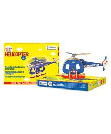 Genius Box Helicopter Solar Wooden 3D Puzzle - 11 Pieces