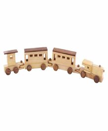 Desi Karigar Wooden Train - Brown