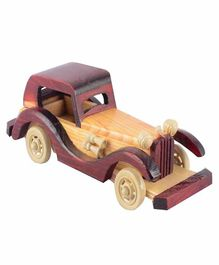 Desi Karigar Hand carved Wooden Jeep Toy - Brown
