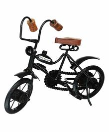 Desi Karigar Wooden & Iron Cycle - Black & Brown