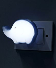 Elephant Shaped Night Lamp - Blue White